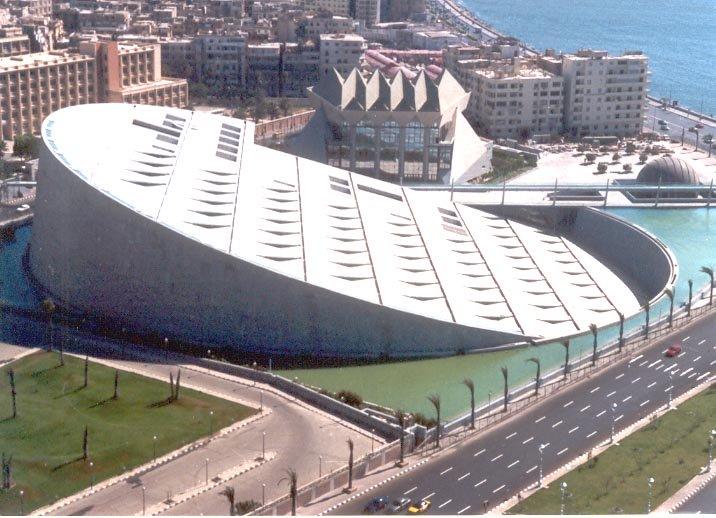✓ Biblioteca de Alejandría - Ficha, Fotos y Planos - WikiArquitectura