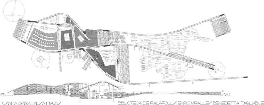 Biblioteca publica en palafolls ficha fotos y planos for Planos de bibliotecas