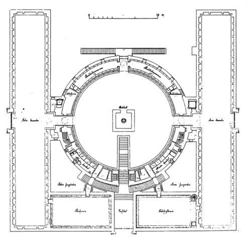 Biblioteca Estocolmo Planta 500x478 Wikiarquitectura