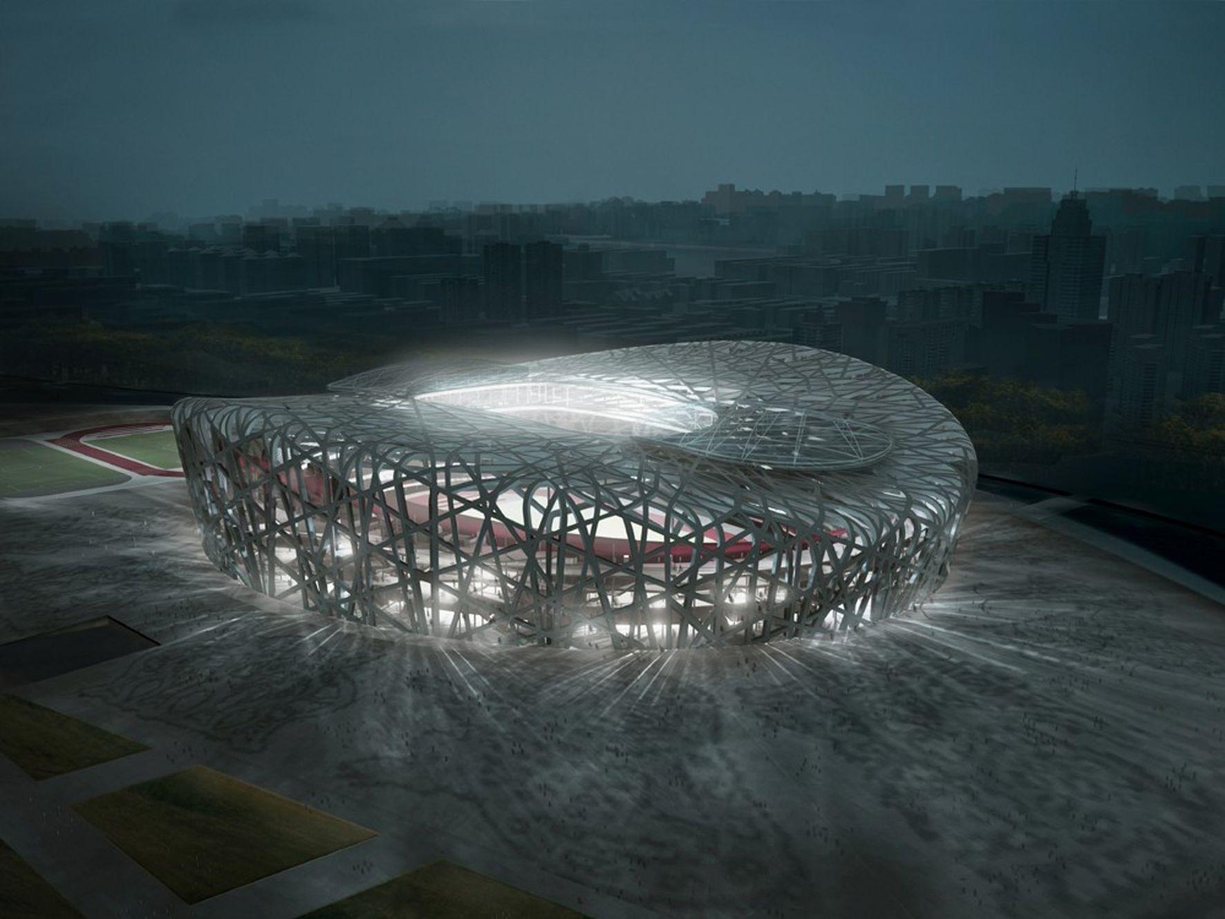 Estadio olímpico de Pekín - Ficha, Fotos y Planos - WikiArquitectura