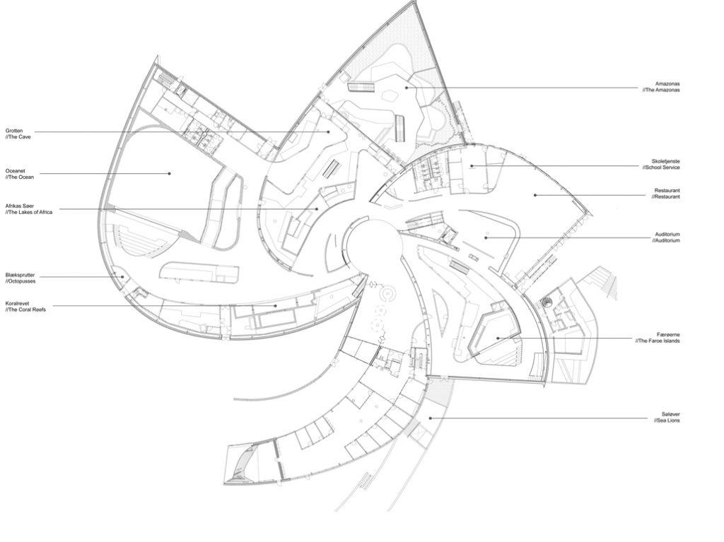 Acuario el planeta azul ficha fotos y planos for Programa arquitectonico restaurante
