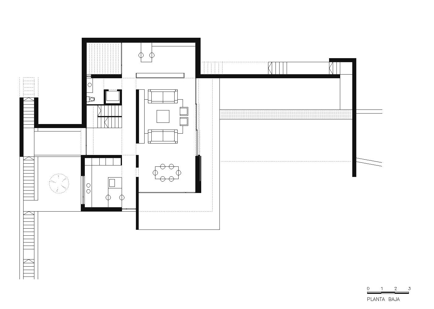 Casa a m planta baja wikiarquitectura for Casa de planta baja