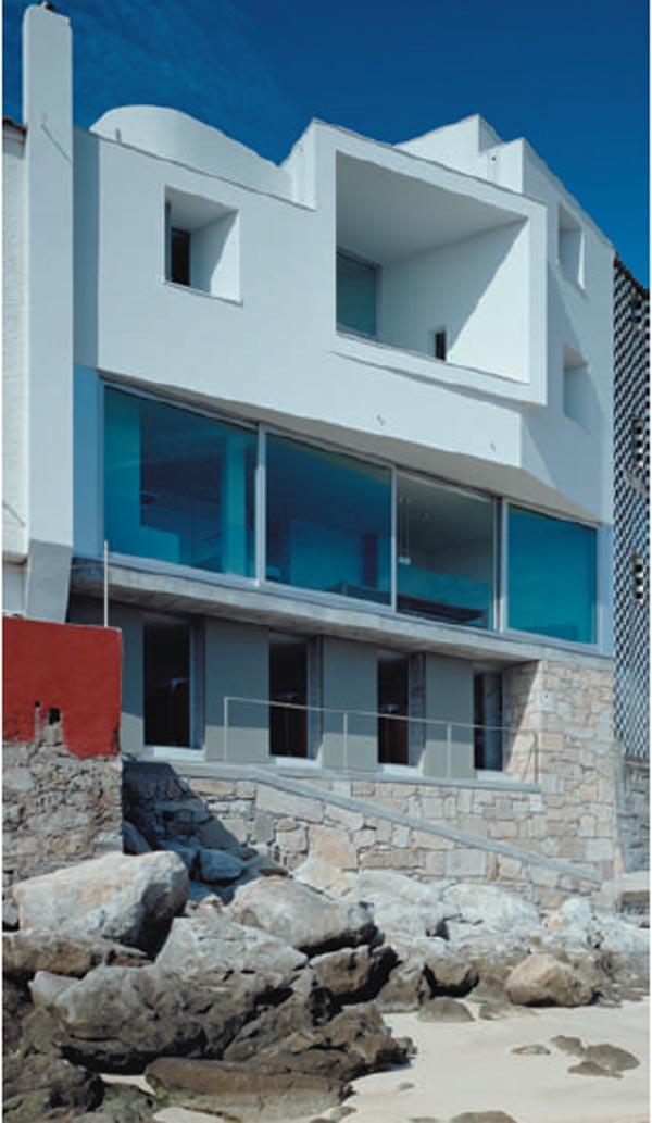 casa de arquitecto en corrubedo