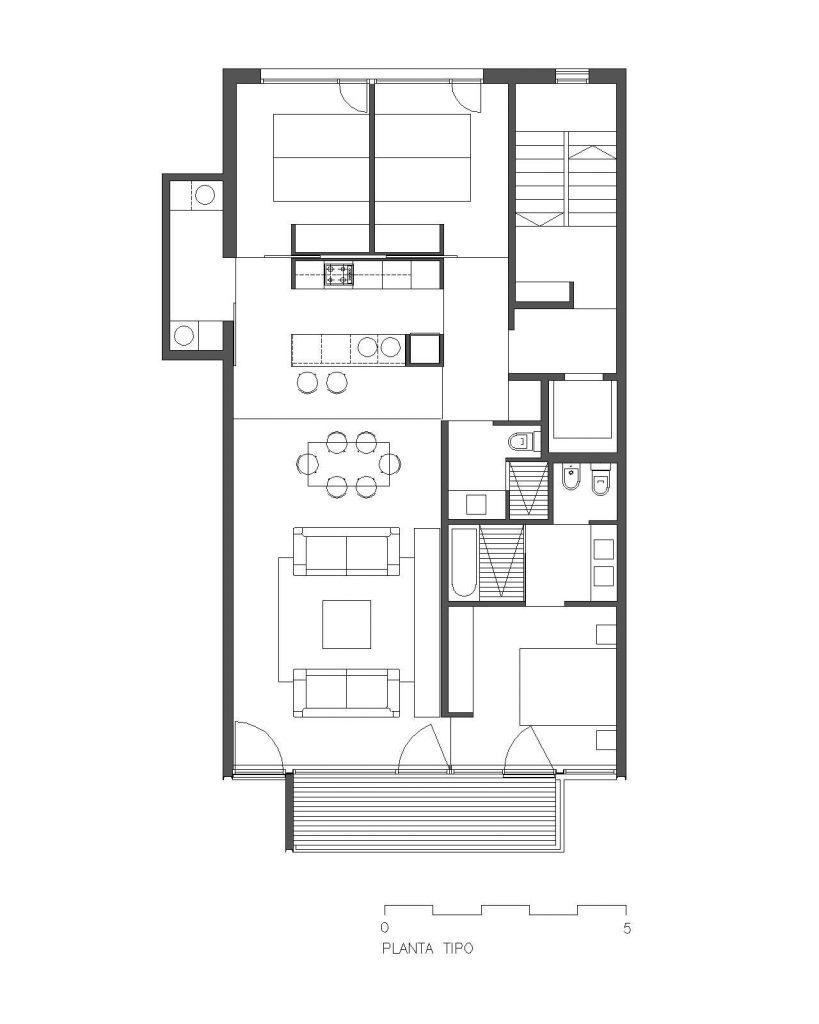 Edificio plurifamiliar de viviendas en la barceloneta - Planos de viviendas unifamiliares ...