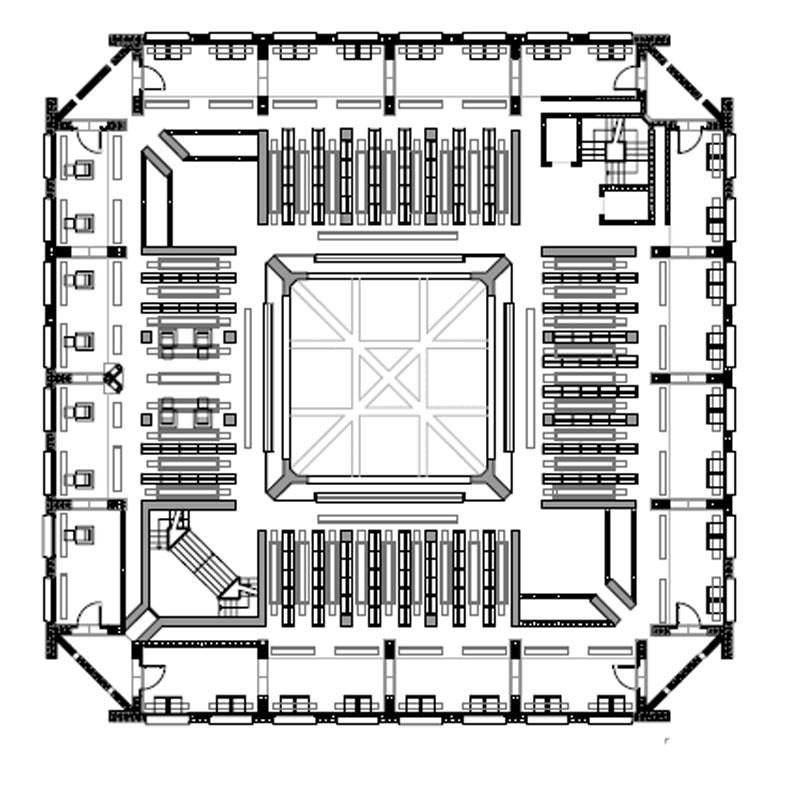 Biblioteca de la phillips exeter academy ficha fotos y for Planta arquitectonica biblioteca