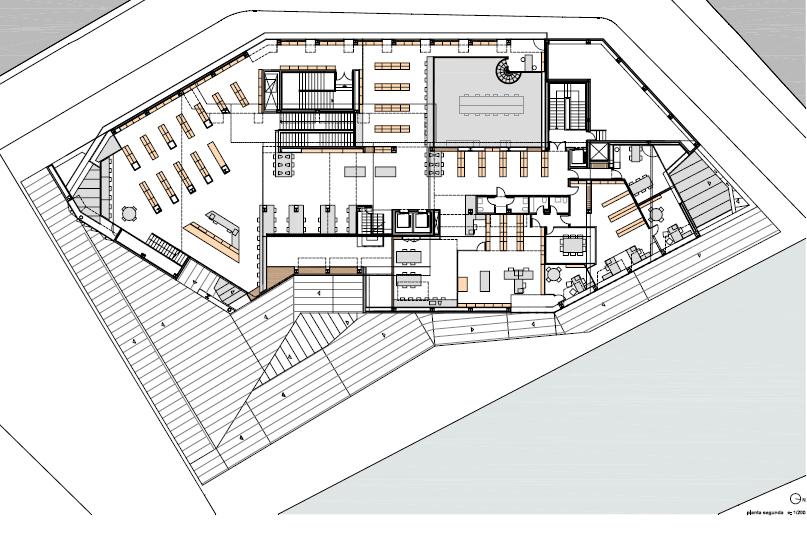 Biblioteca jaume fuster ficha fotos y planos for Planos de bibliotecas