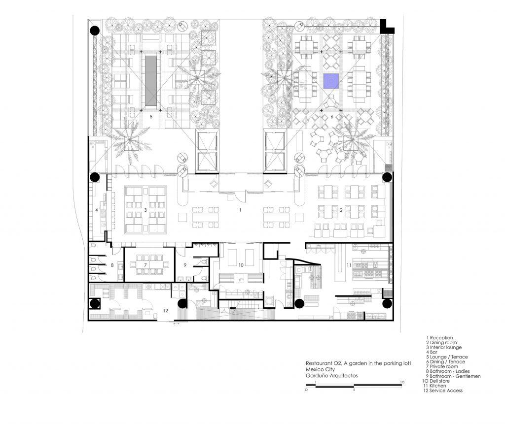 Restaurante o2 ficha fotos y planos wikiarquitectura for Planos para restaurantes