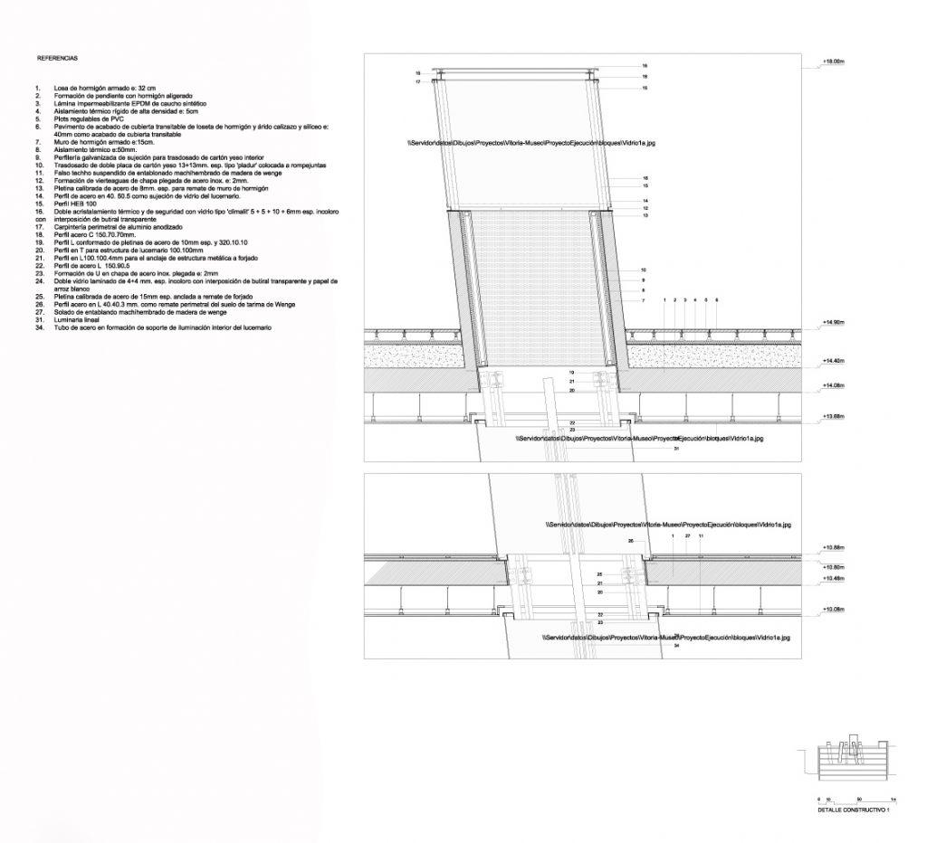Museo arqueol gico de vitoria ficha fotos y planos - Cubierta sobre plots ...